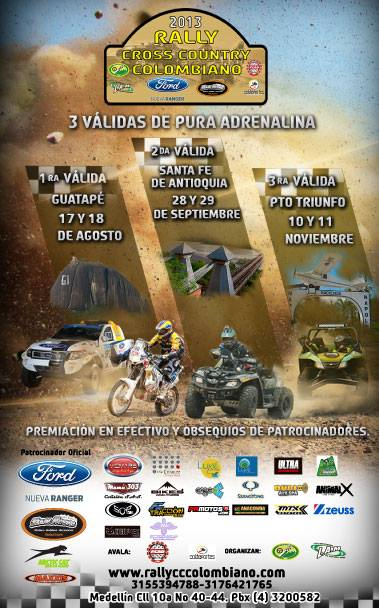 Rally Cross Country Colombiano validas