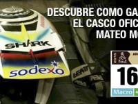 El casco de Mateo Moreno para el Dakar 2015