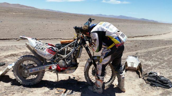 Mateo se despide del Dakar 2015